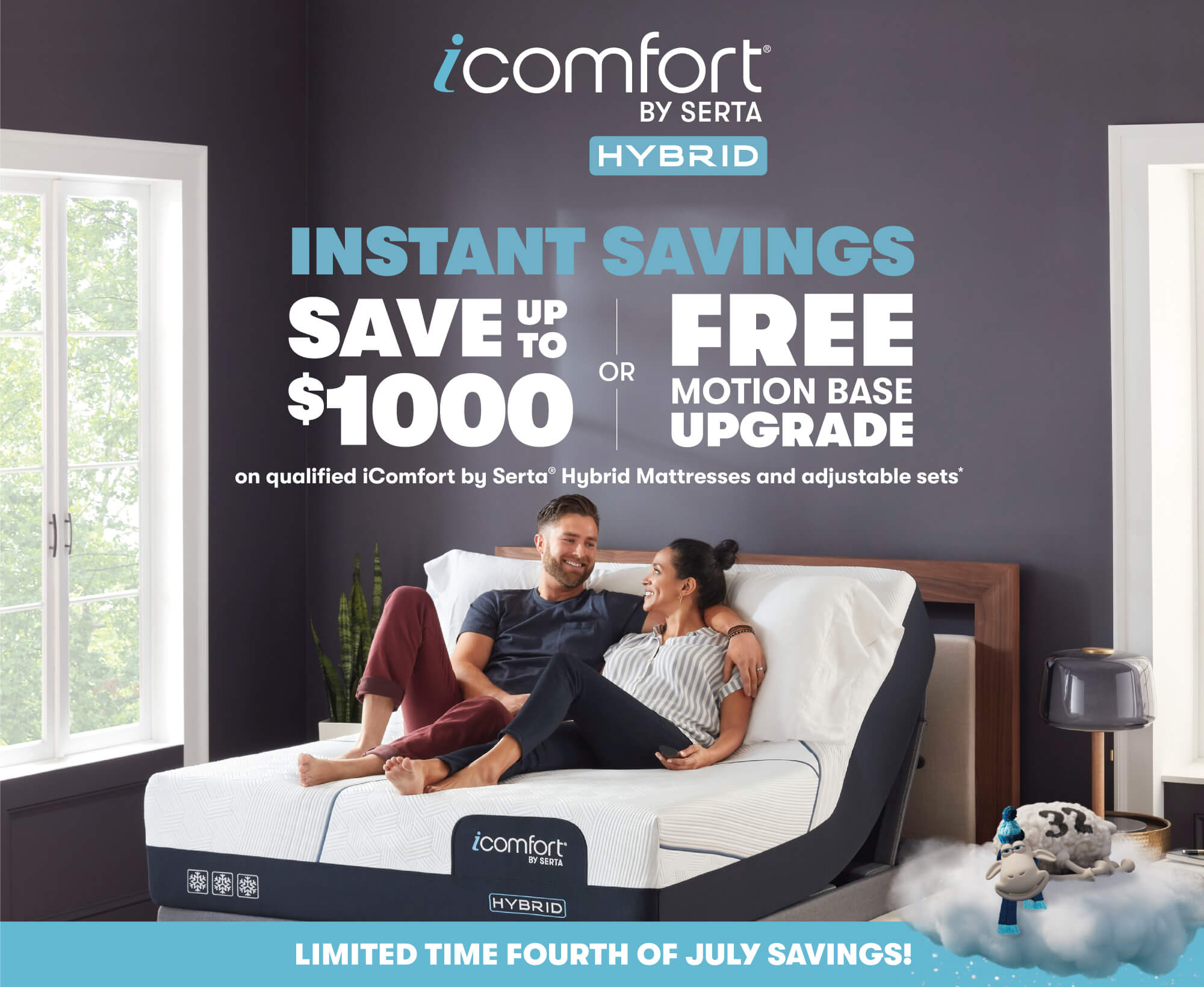 Serta® iComfort® Hybrid July 4th Savings